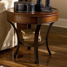 hammary sunset valley round end table rich mahogany 370