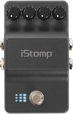 """Digitech iStomp iOS Guitar Multi Effects Pedal While researching the rig I found a disturbing lack of stereo effect pedals that feature a stereo in! Most effects are mono and """"stereo"""" usually means mono in and stereo out. Well.. I couldn't help but notice there were used iStomps around for $60. The deal is for between 99 centers and 10 bucks you can by virtual stomp bocks to an iOS divice, load them into the pedal, and switch them as the needs arise."""