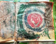 Right now these pages feel like staying together for the children's sake. #artjournal #visceraljournal #staywithit