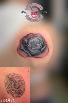 #coverup #rose #tattoo #ink #love #tattoo #ink #love #tattooitzehoe #itzehoe #luckyheadstattoo #nofilter #worldfamousink Head Tattoos, Tattoo Ink, Class Ring, Watercolor Tattoo, Rose, Pink, Roses, Temp Tattoo, Tattoo