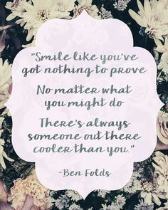 Ben Folds is so near and dear to my heart especially this quote by him. Read more about why on my blog! Link in my profile! by carolineccradick