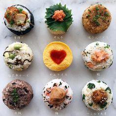 Japanese Food Sushi, Japanese Rice, Temari Sushi, Food Porn, Kimbap, Good Food, Yummy Food, Rice Balls, Food Combining