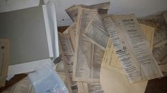 Old papers. Old Paper, Exploring, Urban, Explore, Research, Study