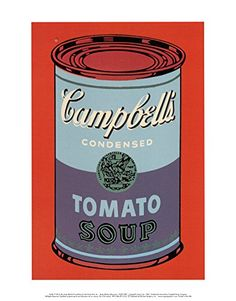 Campbell's Soup Can, 1965 (Blue and Purple) Art Print by Andy Warhol 11 x 14in