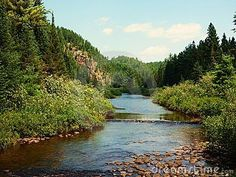 River along Highway 129 in Northern Ontario, Canada between Chapleau and Highway 17.