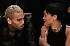 Rihanna & Chris Brown Basketball Gif