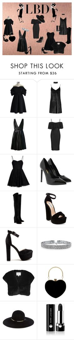 """LBD"" by safae-mouafak on Polyvore featuring mode, Chicwish, Boohoo, Cédric Charlier, Givenchy, Yves Saint Laurent, Aquazzura, Steve Madden, Bling Jewelry en L.K.Bennett"