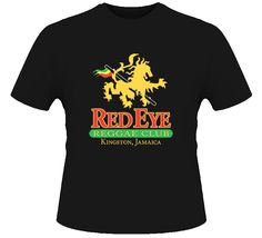 Red Eye Reggae Jamaica Kingston Cool Bar Black T Shirt