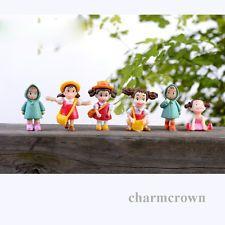 6pcs Mini Cute Dolls Fairy Garden/Dollhouse/Bonsai/Terrarium Potted Garden Decor
