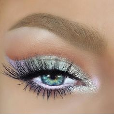 Gorgeous Makeup: Tips and Tricks With Eye Makeup and Eyeshadow – Makeup Design Ideas White Eye Makeup, Pretty Eye Makeup, Makeup Looks For Green Eyes, Gorgeous Makeup, White Eyeliner, Gorgeous Eyes, Pretty Eyes, Simple Makeup, Light Eye Makeup