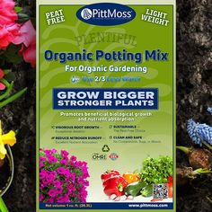 PittMoss Plentiful Organic Potting Soil - is made from locally sourced paper products headed for the landfill and is engineered for optimal plant growth.