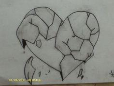 Easy Pencil Drawings Of Broken Hearts 2015 - Sunson #easydrawings