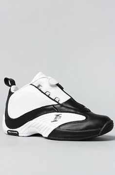 3e3d3a1b9748 Reebok The Answer IV Mid Sneaker in White   Black