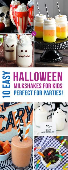 From Worms and Vampires to Ghosts and Pumpkins we have all the yummy shakes you need in this collection of Easy Halloween Milkshake Recipes for Kids!