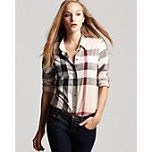 Burberry Brit Exploded Check Button Down Woven Shirt