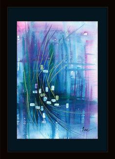 abstract watercolor abstract painting abstract art by TinaVuStudio