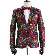 Aliexpress.com : Buy Floral Bird Embroidery Print Notch Lapel Fashion Stage Blazer for Men Italy Style Fancy Slim Fit Jaqueta Masculina from Reliable blazer ladies suppliers on oscn7 Store