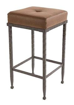 Forest Hill Backless Barstool, 25 in. Std. Faux Leather in Pecan Leather 205398-OG-69845-O-279731-OG-142811-O-759474