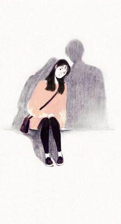Cute art drawings girls Ideas for 2019 Art Anime Fille, Anime Art Girl, Sad Drawings, Art Drawings Sketches, Sad Sketches, Sketch Art, Pencil Drawings, Croquis Couple, Aesthetic Art