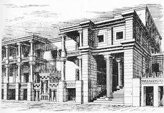 Knossos Palast, Zeichnerische Rekonstruktion