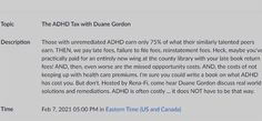 The ADHD Tax - FREE ADDA event on Feb 7, 2021, at 05:00 PM Eastern time- Webinar Registration - Zoom What Is Adhd, Technology Consulting, County Library, Tax Free, Managing Your Money, Latest Books, You Are Invited, Money Matters, Writing A Book