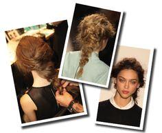 Trenzas desestructuradas, efecto enredado #hairstyle #cabello, de Rachel Zoe