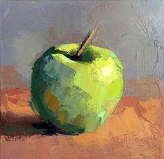 "Daily Paintworks - ""Green Apple"" - Original Fine Art for Sale - © Trisha Adams"