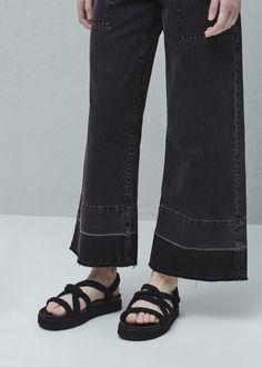 Interwoven cord sandals - Shoes for Woman | MANGO United Kingdom