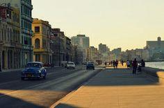 Malecón street , Havana , Cuba