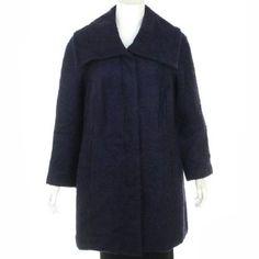 Alfani Wool Blend Coat Dark Grape 16W Alfani. $122.60
