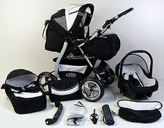 2012 BLACK CARRERA SPORT 3-in-1 Baby Travel System/Pushchair/Pram/Buggy/Stroller