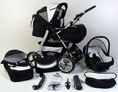2012 BLACK CARRERA SPORT 3-in-1 Baby Travel System/Pushchair/Pram/Buggy/Stroller