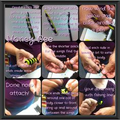 Honey bee pipe cleaners  Just a fun craft you can use for decor or whatever we use ours for I'm bring home a baby bumble bee