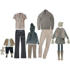 A fashion look from August 2011 featuring Vince sweaters, Bird by Juicy Couture cardigans and True Religion jeans. Browse and shop related looks. Family Picture Colors, Family Picture Outfits, Clothing Photography, Family Photography, Winter Family Photos, Family Pictures, Autumn Photos, What To Wear Fall, How To Wear