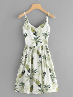Pineapple Print Pleated Back Cami DressFor Women-romwe - Pineapple Print Pleated Back Cami DressFor Women-romwe Source by MissKristja - Teen Fashion Outfits, Cute Fashion, Girl Fashion, Fashion Dresses, Color Fashion, Petite Fashion, Fashion Tips, Skirt Outfits, Chic Outfits