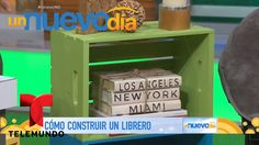 Cómo construir un librero con canastas de madera | Un Nuevo Día | Telemundo
