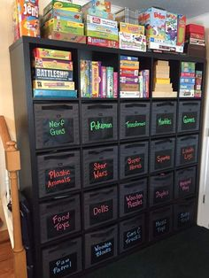 40 Intelligent Toy Storage Ideas to Keep Your Kid's Room in Order .Check o. 40 Intelligent Toy Storage Ideas to Keep Your Kid's Room in Order ….Check out this clever new Kids Bedroom Organization, Toy Organization, Organizing Kids Rooms, Organization Ideas For The Home, Playroom Ideas, Playroom Design, Organize Toy Rooms, Design Bedroom, Organized Bedroom