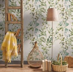 With super powers- Con superpoderes Ramas II wallpaper by Leroy Merlin paper - Interior Wallpaper, Room Interior, Interior Design Living Room, Living Room Decor, Bedroom Decor, Wall Decor, Office Deco, Deco Boheme, My New Room