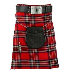 """✔️ Royal Stewart Tartan Kilt is popular design in Scottish traditional clothing to wear in special occasions including weddings, sports, leisure and other events. 🌐 Shop now @ """"Gentry Choice"""" Scottish Costume, Scottish Kilts, Red Fabric, Wool Fabric, Leather Buckle, Real Leather, Pride Of Scotland Tartan, Kilts For Sale, Kilt Belt"""