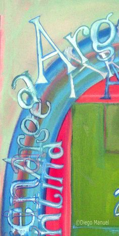 Brasil – Argentina 3 (abstracto) , acrylic on canvas, 45 x 70 cm cm. 2014