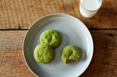 Matcha Snickerdoodles are the genius of William Werner of San Francisco's Craftsman & Wolves. This recipe is a slightly adapted version of the one originally published in Bon Appétit magazine.  Matcha, also called green tea powder, is available at Japanese markets and some supermarkets and online.