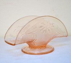 PRETTY in PINK Depression Glass NAPKIN HOLDER