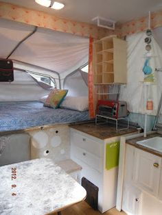 tent trailer ideas for storage and revamp from: This House We Call Home