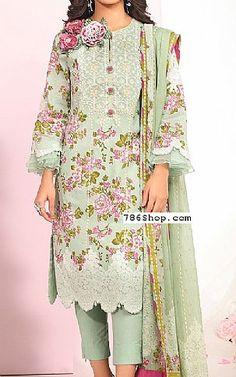 Pakistani Lawn Suits, Pakistani Dresses, Fashion Pants, Fashion Dresses, Add Sleeves, Lawn Fabric, Green Lawn, Shalwar Kameez, Indian Outfits