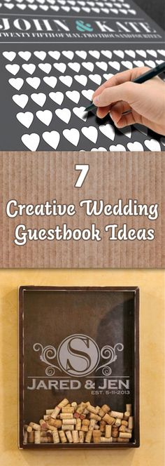 Instead of sticking to the old traditional guestbook at your wedding here are a bunch of creative ideas to make your guestbook fun again.