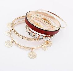Hot multilayer metal wild bracelets (red) for $9 Only! Shop Now! for order queries inbox us at https://www.facebook.com/Glamourforgirls or email us at glamourous_girls@hotmail.com