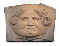 A relief with Gorgoneion, classic Greek, 5th century B.C.