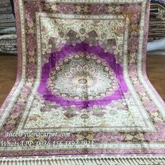 Purple hand knotted silk rug from Yilong carpet factory. Material : silk, 230 lines, 367 kpsi, size: 260 x 350 cm. More information, please contact Alice :  Email: alice@yilongcarpet.com  WhatsApp or Viber: +86 156 3892 7921 #traditionalsilkrug #persiansilkrugsforsale #persianrugprices #persiansilkrugs #antiquepersianrugs #traditionalpersianrug #traditionalorientalrug #chineseorientalrug #handmadesilkrug #kashmirsilkrug #chineserugforsale #chinesesilkrugonsale