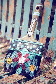 Rustic Paint Brush Artwork