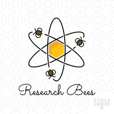 Exclusive Customizable Logo For Sale: Research Bees | StockLogos.com